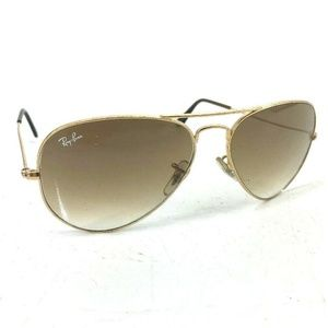 Ray Ban Gold Frame Large Metal Aviators Gradient